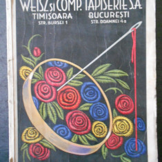 WEISZ si COMP. TAPISERIE S.A. CATALOG (1934)