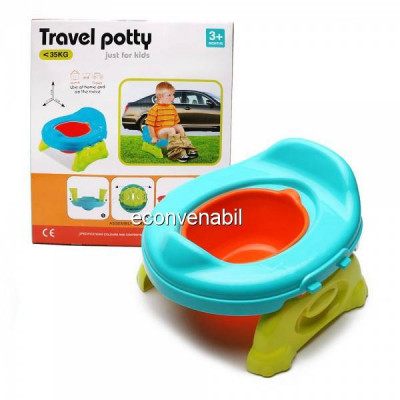 Olita Portabila cu Reductor WC Olita Calatorie Travel Potty foto