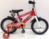Bicicleta Volare Cars pentru baieti 14 inch cu roti ajutatoare