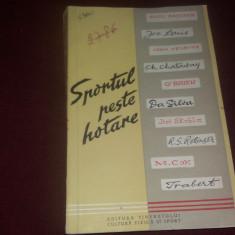 SPORTUL PESTE HOTARE  DESPRE TEHNICA SI METODICA DE ANTRENAMENT 1958