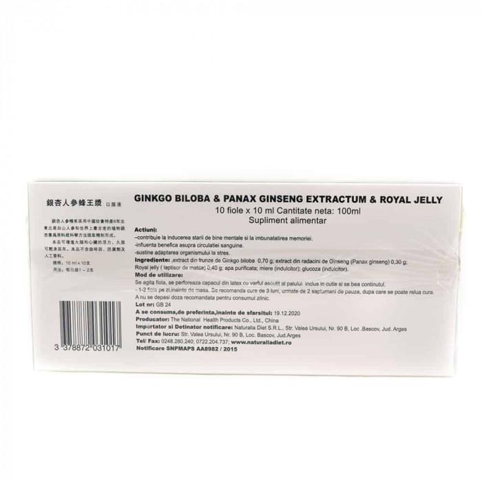 Ginkgo Biloba & Panax Ginseng Extractum & Royal Jelly, 10 fiole, Sanye Intercom