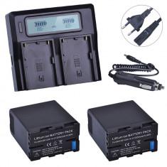 Cumpara ieftin Set 2 acumulatori BP-U65 + incarcator dublu Sony PMW-150 PMW-EX1 EX3 EX280 EX260