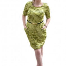 Rochie mulata pe corp in nuanta de verde din material subtire