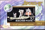 UNGARIA 1969, Cosmos, Apollo 11, bloc neuzat, MNH