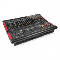 Power Dynamics PDM-S1604A, mixer muzical cu 16 canale, amplificator integrat, (2 x 350 W RMS)