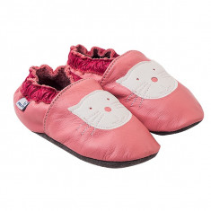 Papucei piele Cyclamen Kitty
