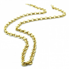 Lant  aur galben 14K, lungime 58 cm, cod 179856