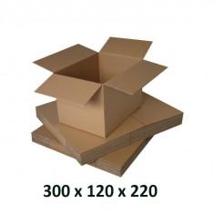 Cutie carton 300x120x220, natur, 3 starturi CO3, 435 g/mp