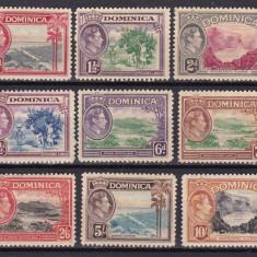 Dominica  1938  vederi  MI 93-106  MLH  w59, Nestampilat