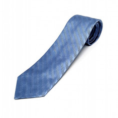 Cravata Matase Bleu Cu Dungi CR008-103