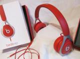 Casti audio On-ear Beats EP by Dr. Dre,originali, editia  Red, Casti On Ear, Cu fir, Mufa 3,5mm