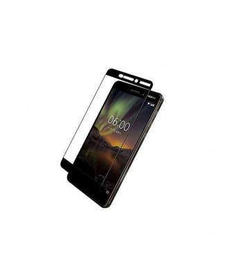 Geam Soc Protector Full LCD 5D Nokia 6, Negru foto