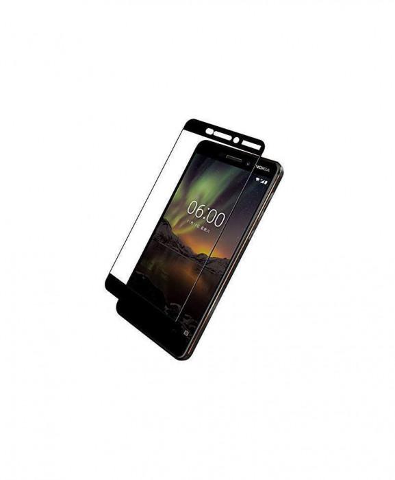 Geam Soc Protector Full LCD 5D Nokia 6, Negru