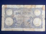 Bancnote România - 20 lei 1929 - seria J.9501 0645 (starea care se vede)