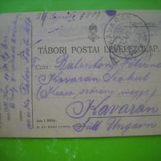 HOPCT 179 M CARTE POSTALA PRIZONIERI DE RAZBOI -C DAICOVICIU/ CARAS SEVERIN 1917