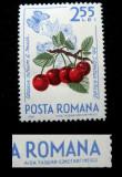 Varietate , eroare la marca postala de 2.55 lei Fructe de padure, 1964, Nestampilat