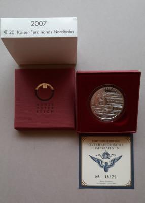 Moneda tematica de argint - 20 Euro 2007, Austria - calitate Proof foto