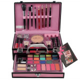 Valiza Profesionala Machiaj, Multifunctionala, Magic Color Makeup Kit, Pink Secret