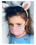 Masca reutilizabila copii, batist din bumbac , respirabila