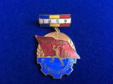 INSIGNA ROMANIA - FRUNTAS BRIGADIER AL MUNCII PATRIOTICE - 1959