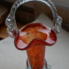 Vaza veche din sticla perioada comunista / Vaza veche stil Galle