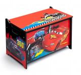 Ladita din lemn pentru depozitare jucarii Disney Lightning McQueen, Multicolor, Delta Children