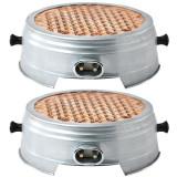 2 x Resou electric, Plita, Ceramic, Nichelina, Cablu 1M, 1000W