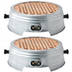 Cumpara ieftin 2 x Resou electric, Plita, Ceramic, Nichelina, Cablu 1M, 1500W