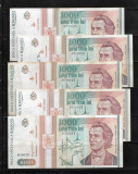ROMANIA - LOT 5 BANCNOTE 1000 1 000 LEI 1993, CIRCULATE
