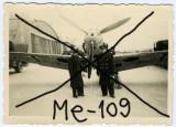 Fotografie originala avion vanatoare Messerschmitt Me-109 Pipera aviatie pilot, Generic