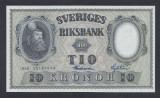 A5156 Sweden Suedia 10 kronor 1958 SEMNATURI DIFERITE UNC