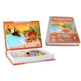 Carte magnetica, Joc Educativ STEM, Animale Salbatice