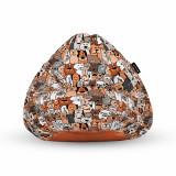 Cumpara ieftin Fotoliu Units Puf (Bean Bag) tip para, impermeabil, cu maner, 80 x 90 x 68 cm, invazia animalelor