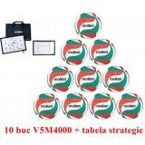10 x V5M4000 Minge volei Molten + Tabela strategie Molten antrenor volei MSBV