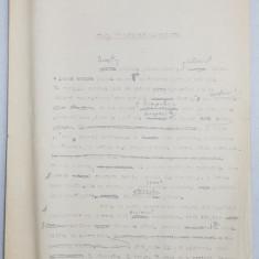 GEO BOGZA - VIATA IN SCHELELE PETROLIFERE - ARTICOL PENTRU ZIAR , DACTILOGRAFIAT , CU CORECTURILE, MODIFICARILE SI ADAUGIRILE OLOGRAFE ALE AUTORULU