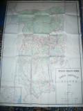 Harta mare a Judetului Valcea 1981 ,142x104 cm RSR Inst. Geodezie si Org. Terit
