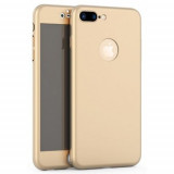Cumpara ieftin Husa Apple iPhone 8 Plus, FullBody Elegance Luxury Auriu, acoperire completa...
