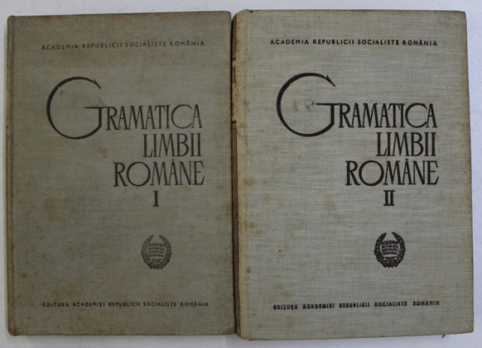 GRAMATICA LIMBII ROMANE,VOL.I-II,BUC.1966 , COPERTA UZATA