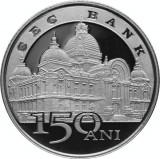 Moneda Romania 10 Lei 2014 - PROOF ( 150 ani infiintarea CEC Bank ), Argint