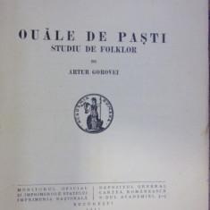 OUALE DE PASTI . STUDIU DE FOLKLOR de ARTUR GOROVEI (1937)