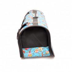 Geanta transport animale de companie, Gonga, pliabila, albastru