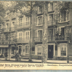 AD 718 C. P. VECHE -HOTEL BEAU RIVAGE SUR ...VICHY  -1911 -A. LEBRUN -BUCURESTI