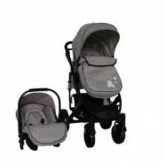 Carucior 3 in 1 copii 0 luni+ Kikka Beloved Light Grey