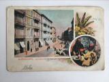 Carte postala veche vedere Egipt Alexandria Boulevard de Ramleh 1900 necirculata