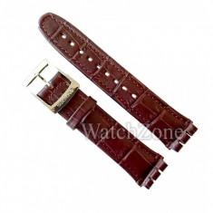 Curea Swatch Piele Maro 19mm 22mm