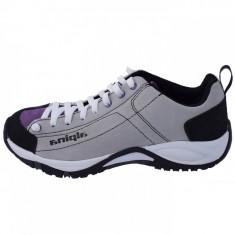 Adidasi dama, din piele naturala, marca Alpina, 633P8K-63-23, alb cu violet