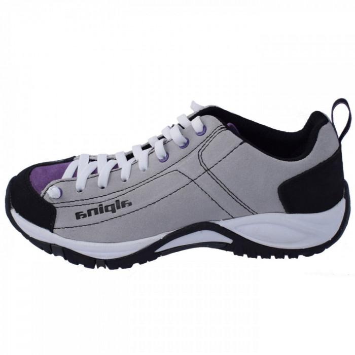 Adidasi dama, din piele naturala, Alpina, 633P8K-63-23, alb cu violet