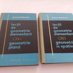 LECTII DE GEOMETRIE ELEMENTARA --JACQUES HADAMARD  SPATIU SI PLANA  RF2O/2