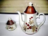 261A-Set Bavaria ceai portelan ceainic zaharnita stil Art Deco motiv floral.