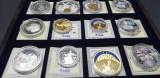 Colectie Medalii comemorative Europa in caseta de lemn si certificate
